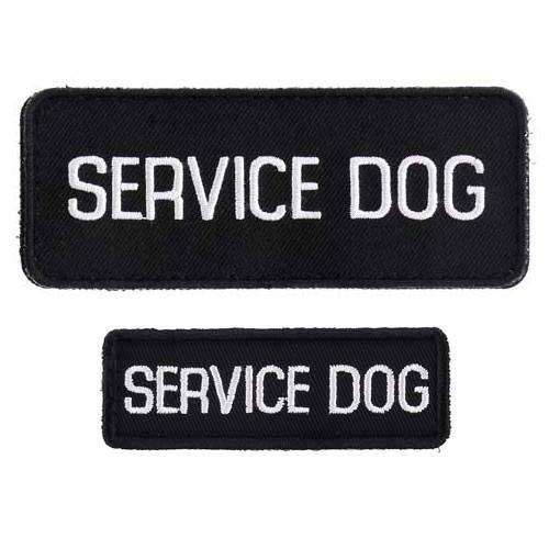 """Service Dog"" Velcro Patches 2 Pack"