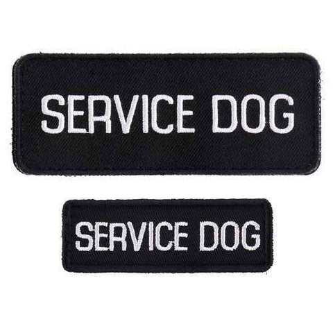 """Service Dog"" Velcro Patches 2 Pack - SitStay"