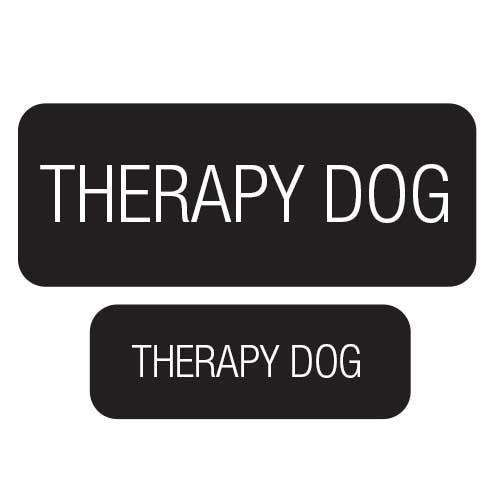 """Therapy Dog"" Velcro Patches 2 Pack - SitStay"