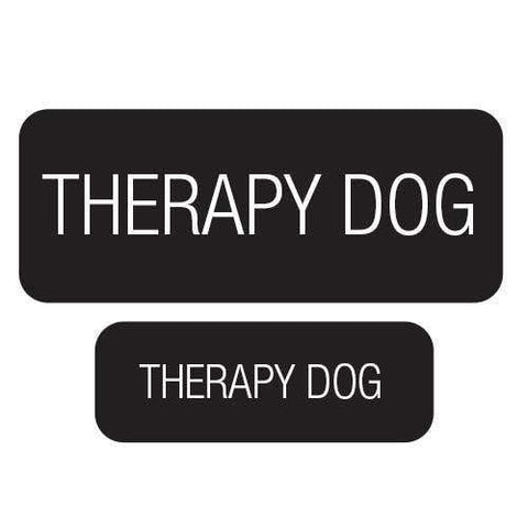 """Therapy Dog"" Velcro Patches 2 Pack"