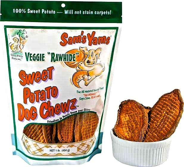 "Front Porch Pets - Sam's Yams Veggie ""Rawhide"" Sweet Potato Chews - SitStay"