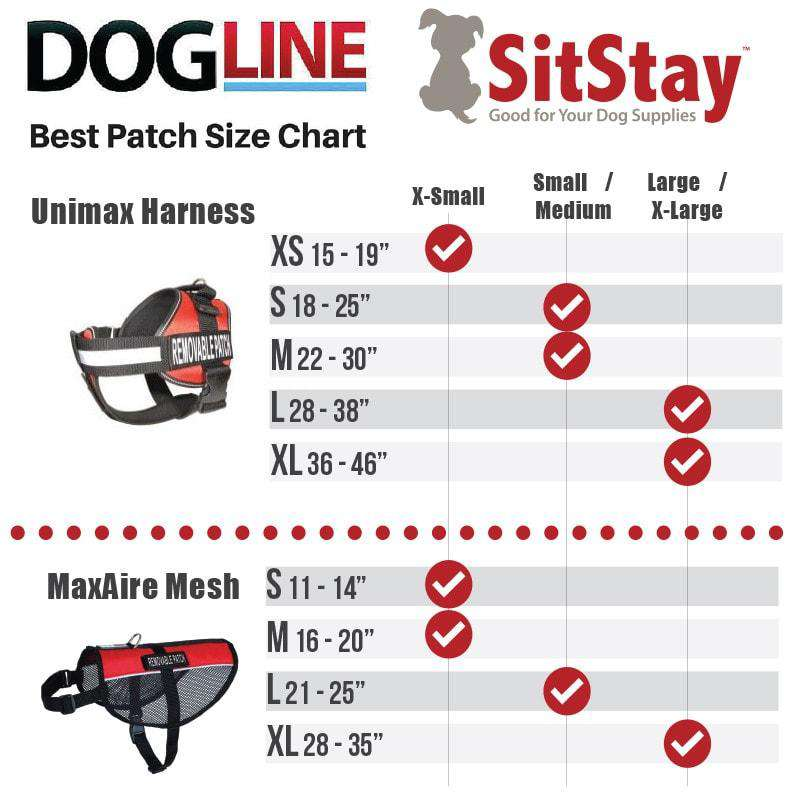 "DOGLine Velcro Patches ""Service Dog"" 2 Pack - SitStay - 1"