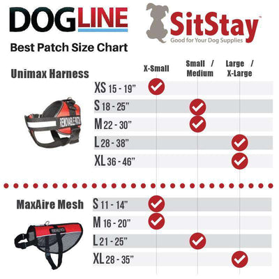 "DOGLine Velcro Patches ""In Training"" 2 Pack - SitStay - 2"