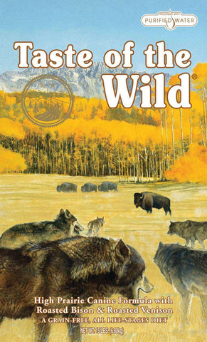 Taste of the Wild, High Prairie (Grain-Free Bison and Roasted Venison) - 5LBS, 15LBS OR 30LBS - SitStay