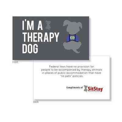 Therapy Dog Definition & Information Cards (PACKS OF 25 cards) - SitStay