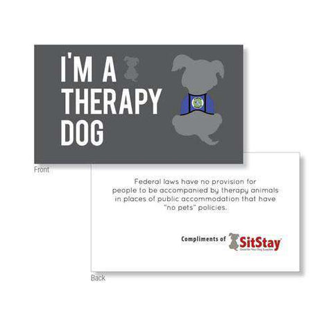 Therapy Dog Definition & Information Cards (PACKS OF 25 cards)