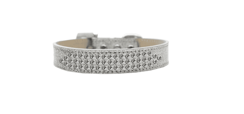 Silver Collar with Crystals