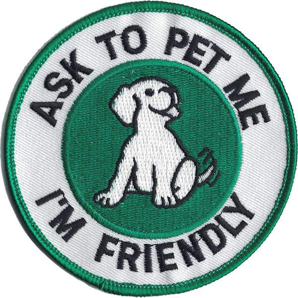 Ask to Pet Patch, Circle Patch - SitStay
