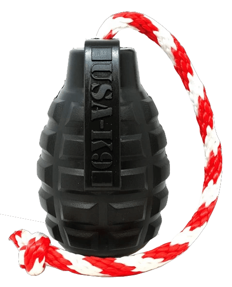 Black Grenade Chew Toy