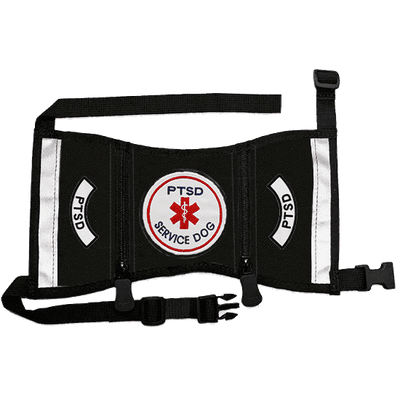 """PTSD Service Dog"" Cape Style Vest with Pockets"