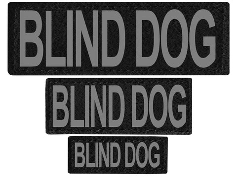 "DOGLine Velcro Patches ""Blind Dog"" 2 Pack"