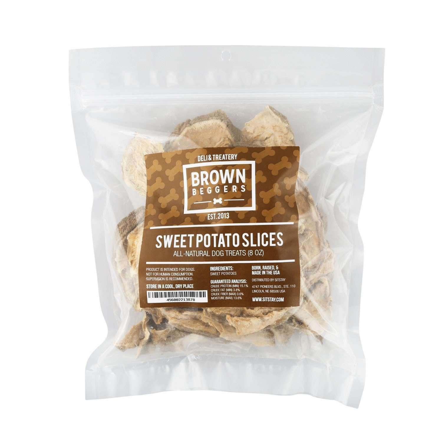 Brown Beggers Sweet Potato Slices, 8 oz - SitStay