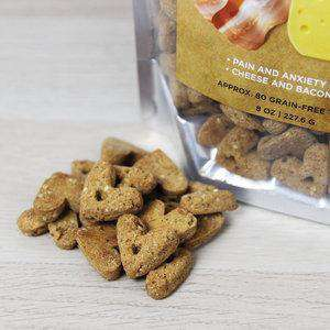 Natural Doggie Hemp-Infused Bacon and Cheese Baked Dog Treats