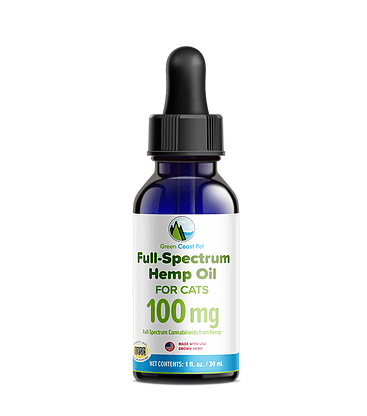 100MG Full-Spectrum Hemp Oil Dropper for Cats by Green Coast Pet