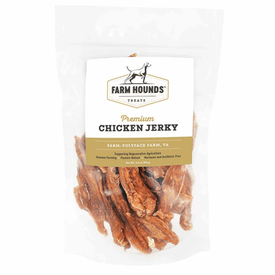 farm hounds chicken jerky front