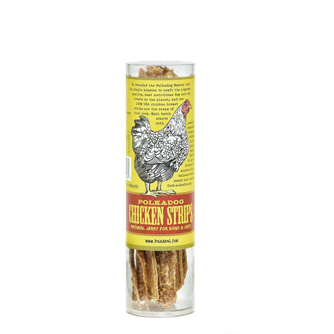 Polkadog Chicken Strip Jerky, Single-Ingredient, Dog Jerky (USA Handmade) *Available in Bulk* - SitStay