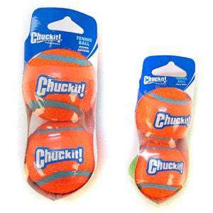 Chuck-It ,Bright Orange for Visibility,Tennis Balls:2 pack (They Float!) - SitStay