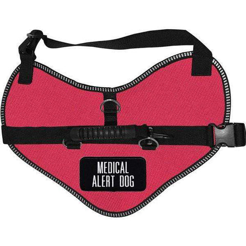 Wiredog - Classic Harness Vest with Medical Alert Dog Patches