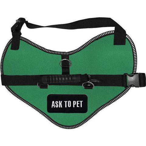 """Ask To Pet"" Classic Dog Harness Vest"