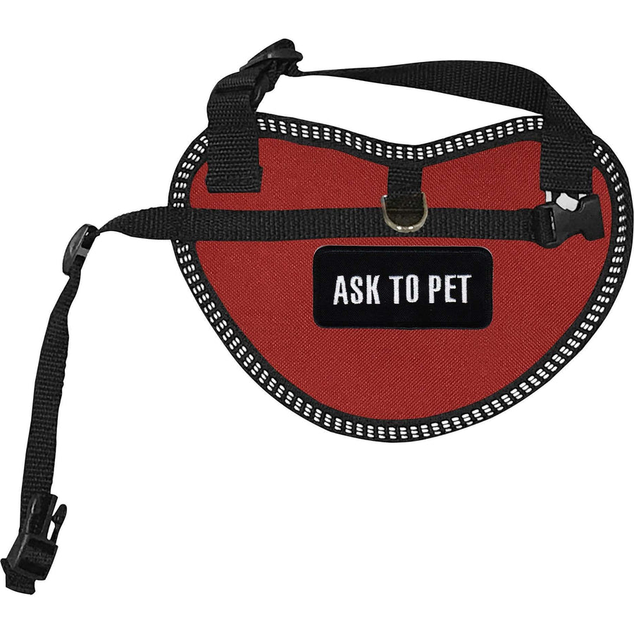"""Ask To Pet"" Dog Harness Vest for small dogs"