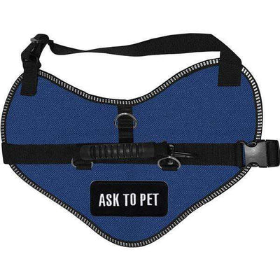 """Ask To Pet"" Classic Dog Harness Vest - SitStay"