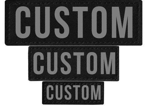 "DOGLine Velcro Patches ""Custom"" 2 Pack - SitStay"