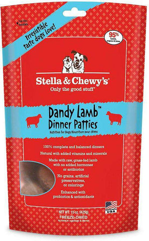 Stella & Chewy's, Dandy Lamb Dinner Patties, 15 oz - SitStay