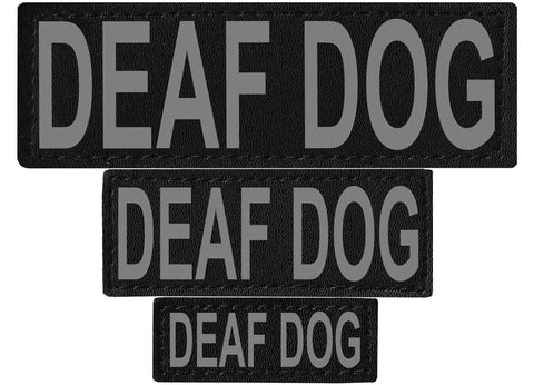 "DOGLine Velcro Patches ""Deaf Dog"" 2 Pack - SitStay - 1"