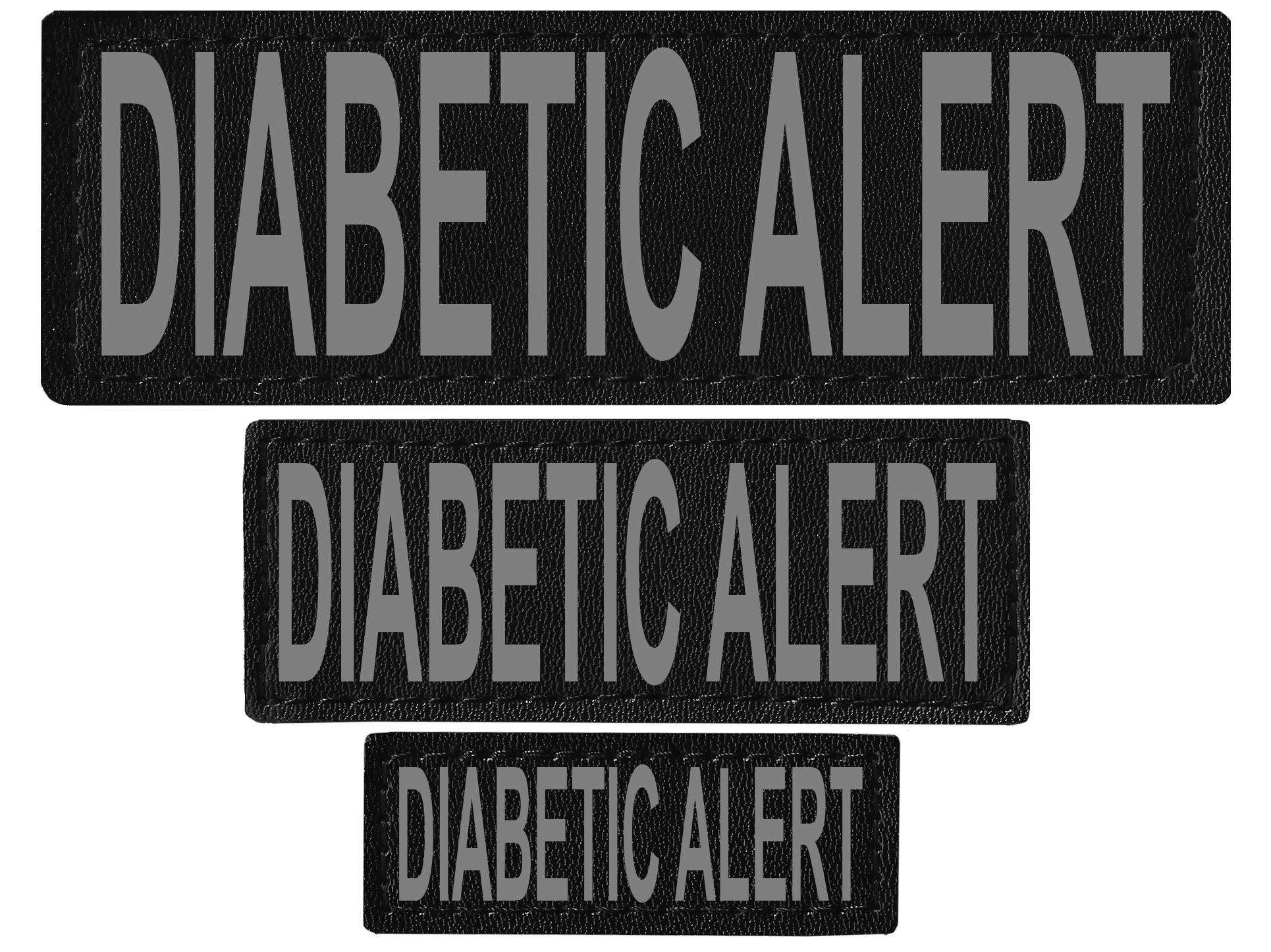"DOGLine Velcro Patches ""Diabetic Alert"" 2 Pack - SitStay - 1"