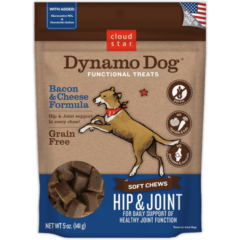 Cloud Star - Dynamo Dog Hip & Joint - Bacon & Cheese 14oz. - SitStay