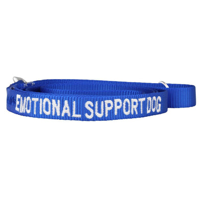dogIDs Embroidered Emotional Support Dog Nylon Leash, 6 FT - SitStay