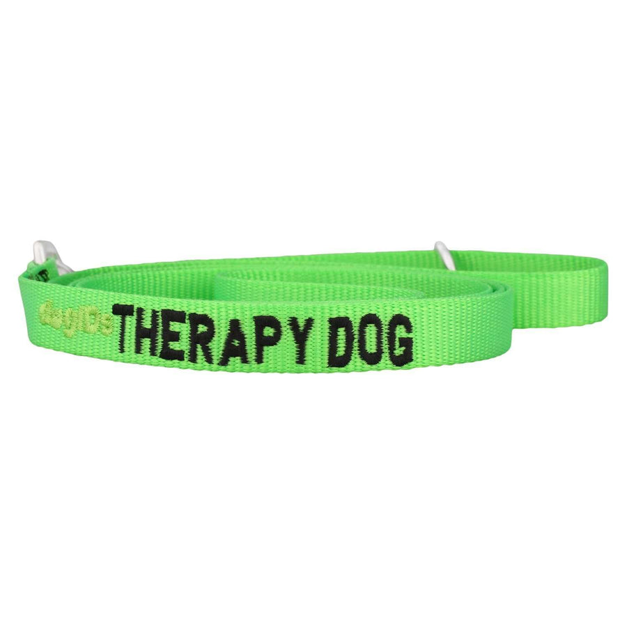 dogIDs Embroidered Therapy Dog Nylon Leash, 6 FT - SitStay