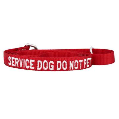 dogIDs Embroidered Service Dog Nylon Leash, 6 FT - SitStay