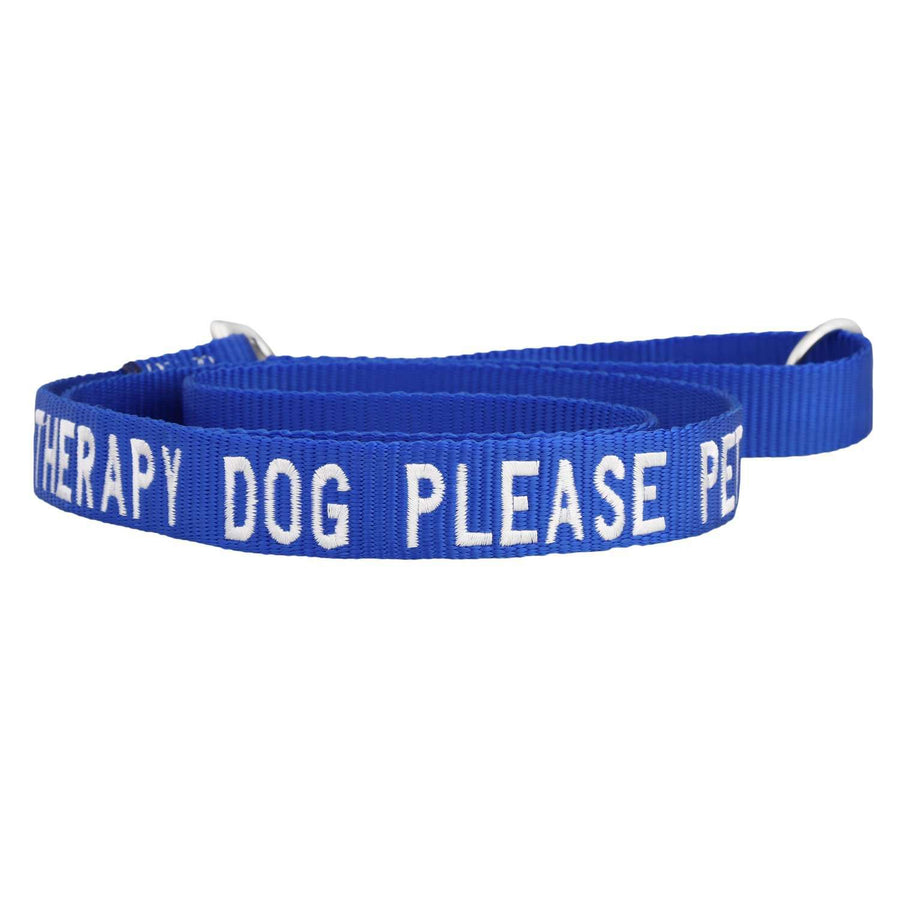 dogIDs Embroidered Therapy Dog Nylon Leash, 4 FT - SitStay