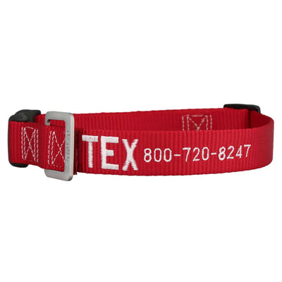 dogIDs Embroidered Nylon Dog Collar