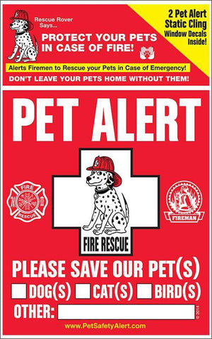 Pet Alert Fire & Rescue Decal - SitStay - 1