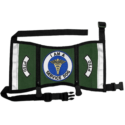 """I Am A Service Dog - PTSD"" Cape Style Vest with Pockets"
