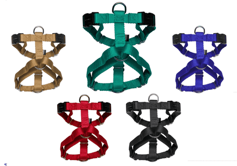 Harness: Sure-Fit Heavy-Duty Nylon, Five-Way Adjustable dog harness by Premier - All Sizes, All Colors (price varies by size) - SitStay - 1