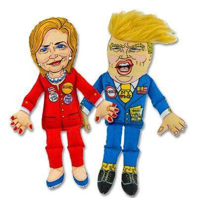 Hillary Clinton & Donald Trump Political Parody Doll by Fuzzu