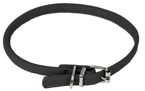 DOGLine Round Leather Collar - SitStay - 3