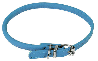 DOGLine Round Leather Collar - SitStay - 4