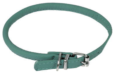 DOGLine Round Leather Collar - SitStay - 6