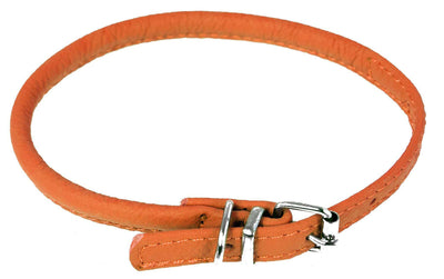 DOGLine Round Leather Collar - SitStay - 8