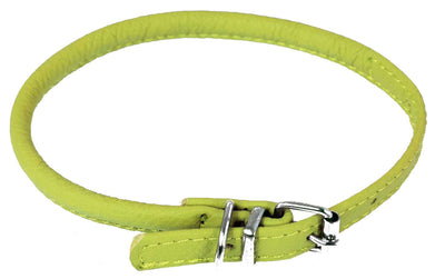 DOGLine Round Leather Collar - SitStay - 9