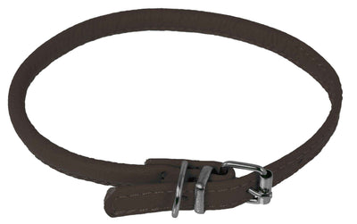 DOGLine Round Leather Collar - SitStay - 11