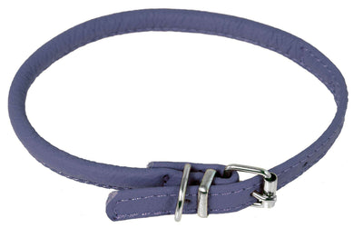 DOGLine Round Leather Collar - SitStay - 13