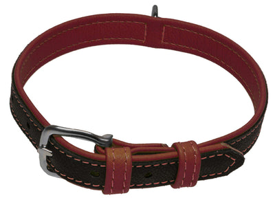 DOGLine Soft Leather Dual Color Collar - SitStay - 4