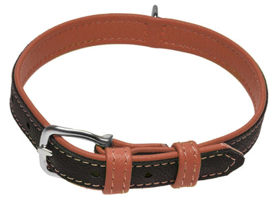 DOGLine Soft Leather Dual Color Collar - SitStay - 5