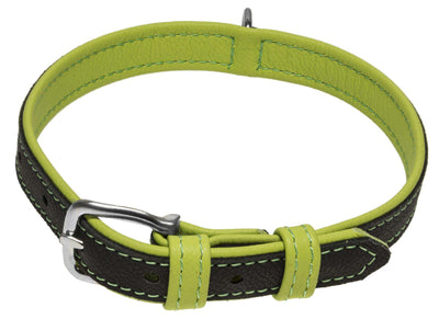DOGLine Soft Leather Dual Color Collar - SitStay - 6