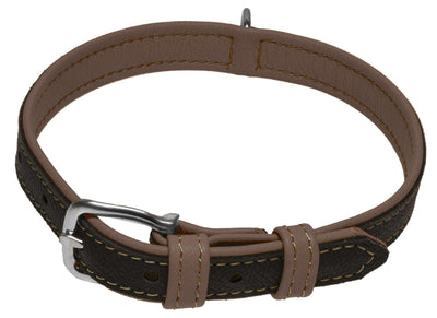 DOGLine Soft Leather Dual Color Collar - SitStay - 7